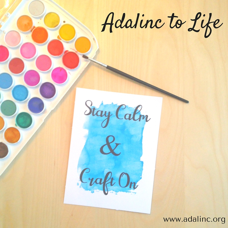 Freebie Friday #2 - Stay Calm and Craft On Printable