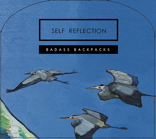 Interior Lid Print for Self Reflection Bag Series - artwork by Eli Halpin