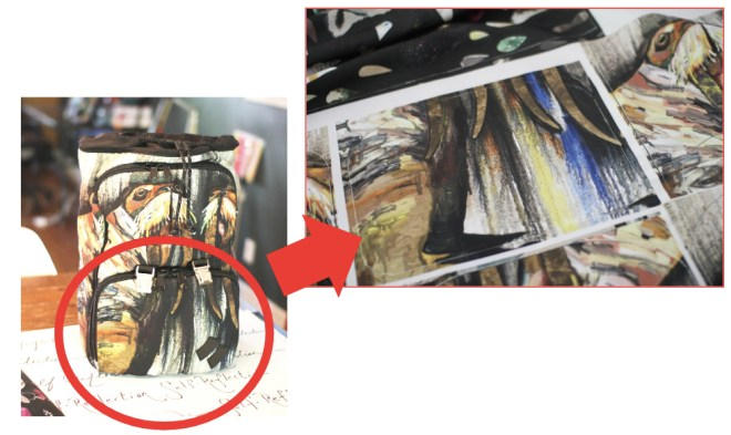Walrus Sample bag - front pocket fabric change