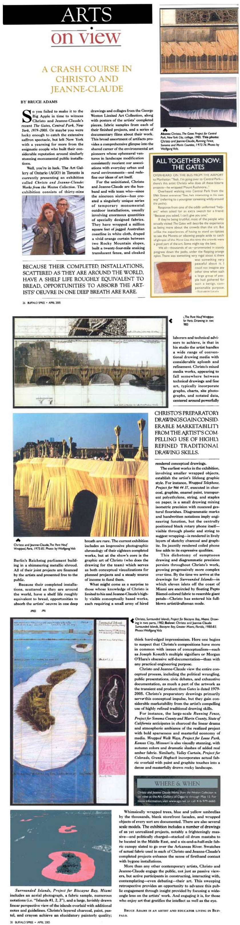 Bruce adams A Crash Course in Christo and Jeanne-Claude, April 2005
