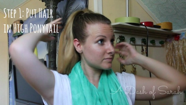 Step 1 Put Hair in Ponytail