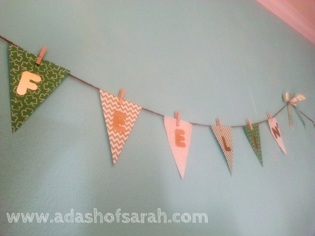 Feeling Lucky St Patricks Day Shabby Chic Bunting Banner DIY