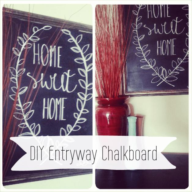 DIY Entryway Chalkboard from A Dash of Sarah