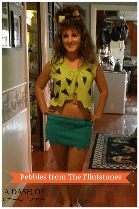 DIY Pebbles from the Flintstones Costume