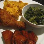 A Soul Food Sunday: Fried Chicken, Candied Yams, Smoky Mac n Cheese, and Collard Greens