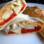 Chicken & Red Pepper Hummus Wrap