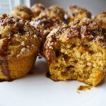 Sweet Potato Muffins with Molasses Glaze