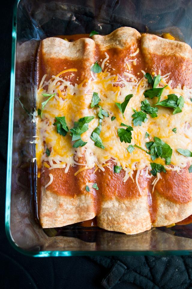 Vegetarian Enchiladas from A Dash of Soul