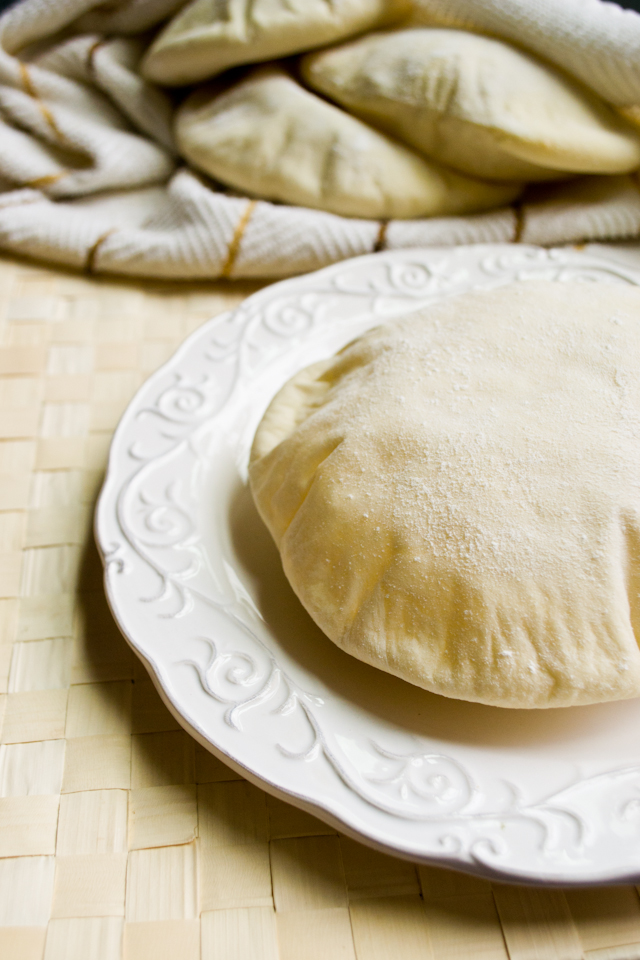 Homemade Pita Bread from A Dash of Soul