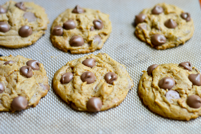 Soft and chewy peanut butter cookies with loads of milk chocolate chips baked inside!