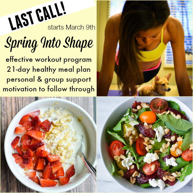 spring into shape last call collage ig