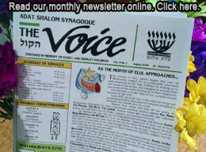 Newsletter - Voice-Adat-Shalom