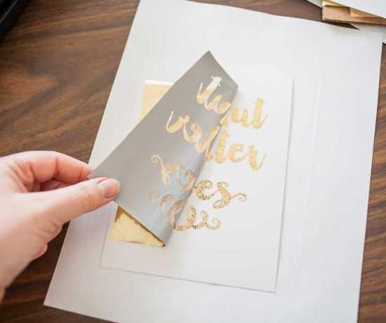 DIY GOLD FOIL LETTERING