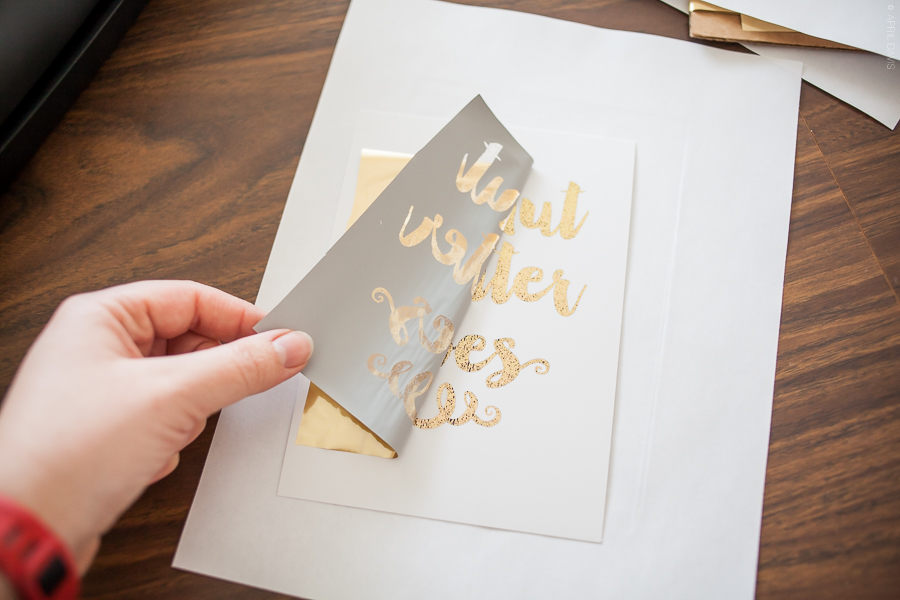Diy gold foil lettering a day in april diy gold foil lettering do it yourself gold foiling vinyl lettering solutioingenieria Images