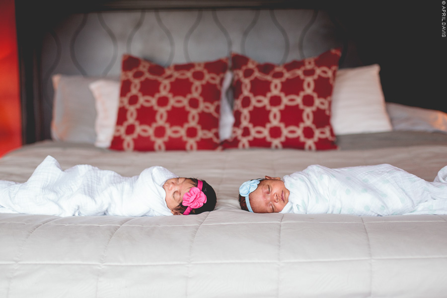 Newborn Twin Girl Photography, lifestyle family photographer