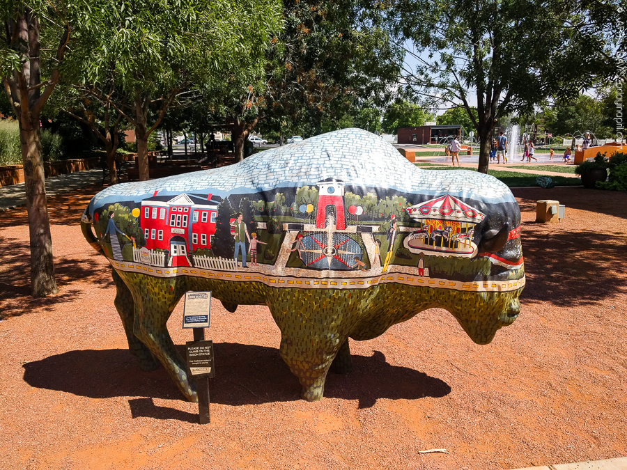 Dixie Trailblazers Bison Buffalo St George UT Art Walk-8