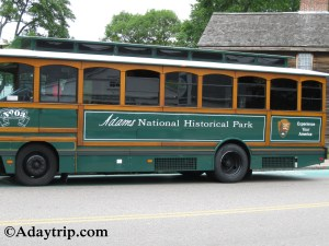 The trolley tour bus