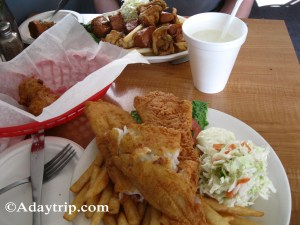 Fish and Chips and Como Plate from Evelyn's