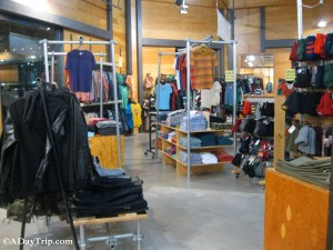 Racks of clothing inside Urban Outfitters at Legacy Place