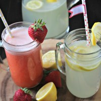 Copycat Chick-fil-A Diet Lemonade and Strawberry Lemonade