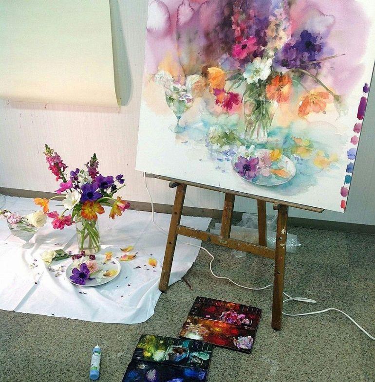 adelaparvu.com despre casa atelier a pictoriteti Yuko Nagayama, artiste acuarela (22)