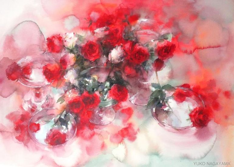 adelaparvu.com à propos de peintures à l'aquarelle, l'artiste Yuko Nagayama (2)