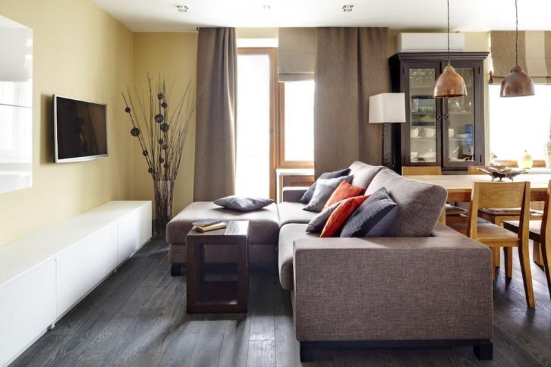 Modern i rustic ntr un apartament de trei camere adela for Decoracion apartamentos modernos en bogota