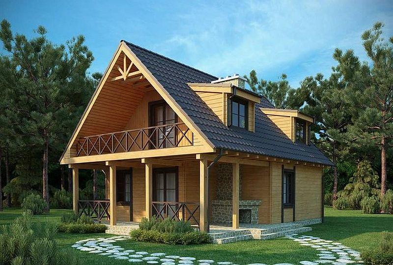 Proiecte de case mici cu suprafe e ntre 50 i 125 metri for Case de vis mici