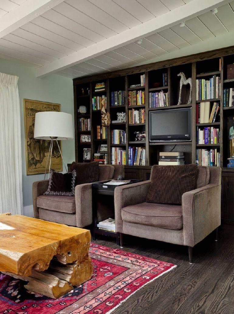 Foto Andrea Schumacher Interiors televizorul în cameră Unde se pune televizorul în cameră și la ce distanță de canapea sau pat? adelaparvu