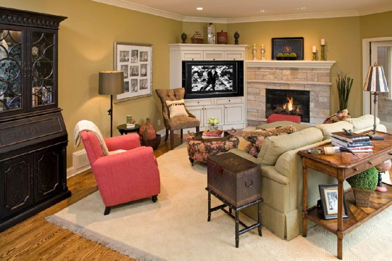 Foto Artful Styles televizorul în cameră Unde se pune televizorul în cameră și la ce distanță de canapea sau pat? adelaparvu