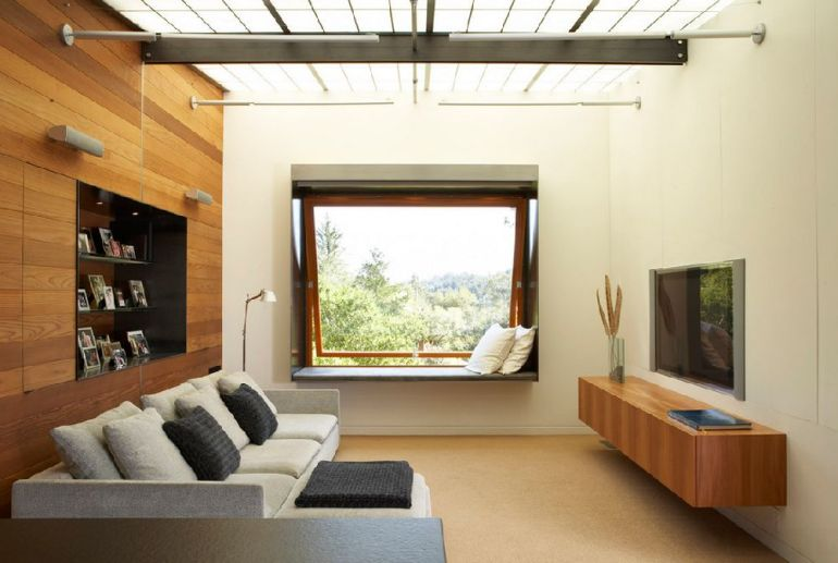 Foto Quezada Architecture televizorul în cameră Unde se pune televizorul în cameră și la ce distanță de canapea sau pat? adelaparvu