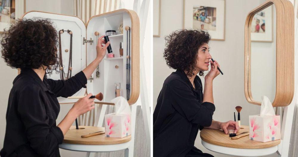 Măsuța de toaletă Make-Up Șevalet creată de Alina Ilie