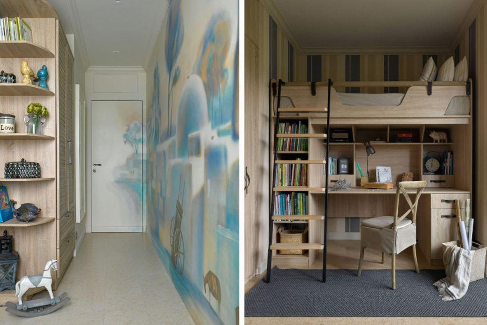 Dintr-un dormitor au făcut două camere pentru copii