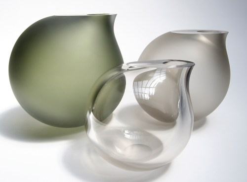 Medium Of Large Glass Vases