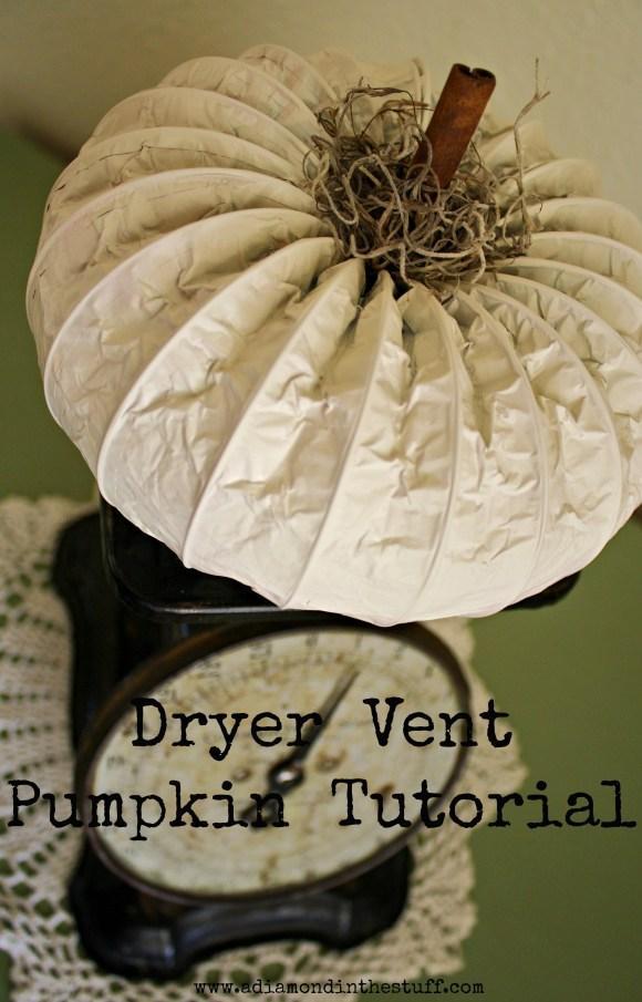 Dryer Vent Pumpkin Tutorial | A Diamond in the Stuff
