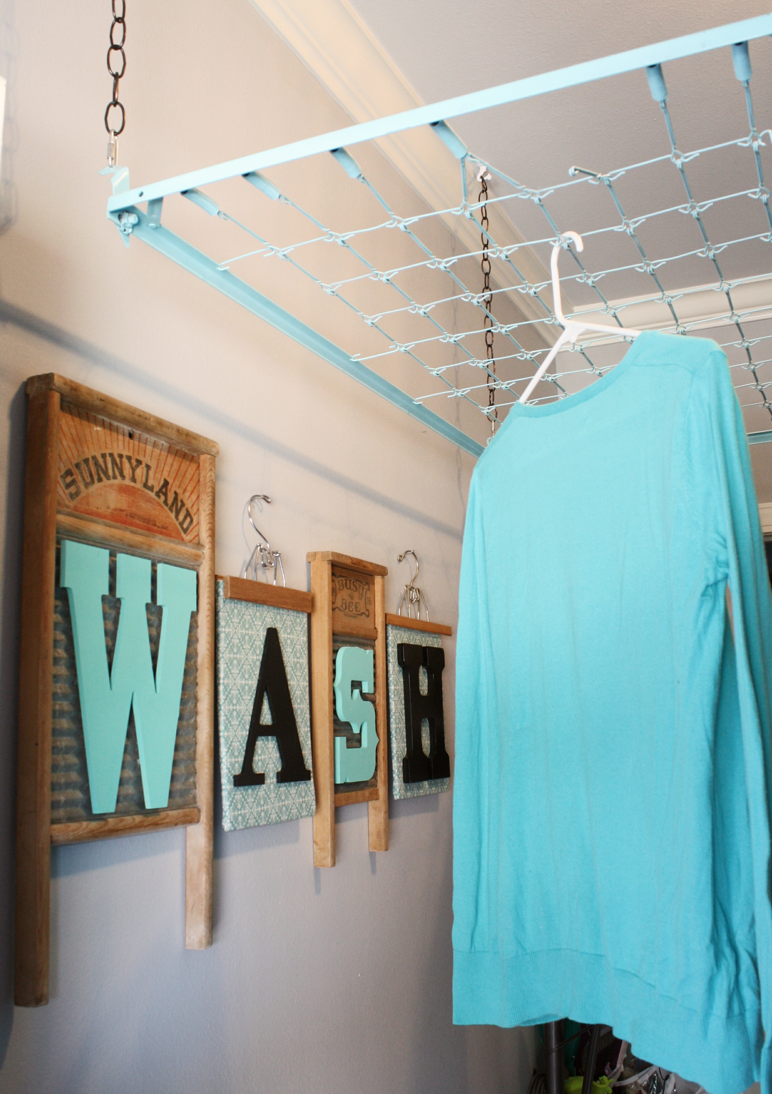 Clothes Drying Ideas ~ Crib spring drying rack wash room decor