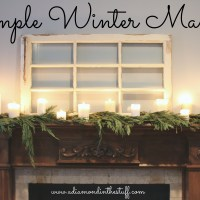 Simple Winter Mantel   A Diamond in the Stuff