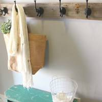 DIY Barnwood Coat Rack | A Diamond in the Stuff