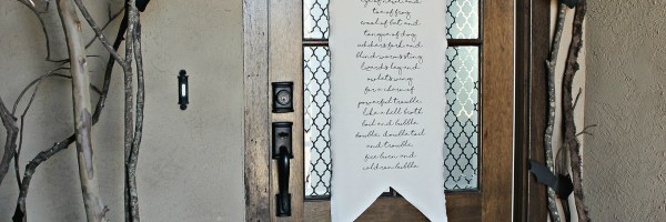 Witch's Scroll and Spooky Porch | A Diamond in the Stuff