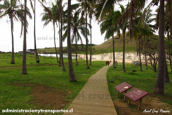 anakena - playa - palmeras - entrada - isla de pascua