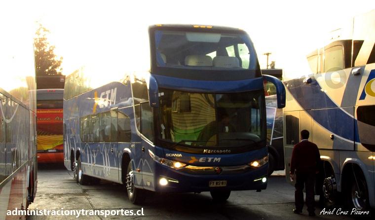 Viaje en Buses ETM (Cama Premium) desde Pto Montt a Santiago