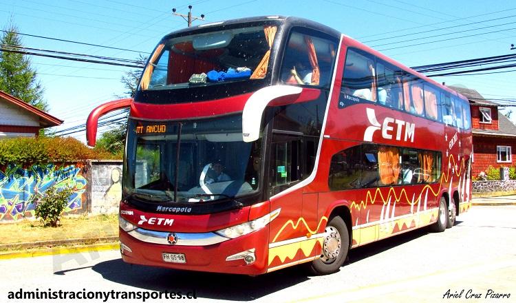 fhgs98 - buses etm - paradiso 1800 dd - scania - puerto varas