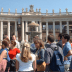 John Cabot University students tour St. Peter's Square before visiting the Basilica.