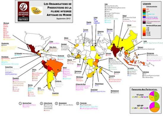 Carte mondiale producteurs