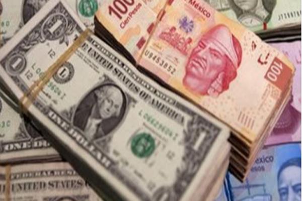 Dólar cierra en 19.15 pesos en bancos de la CDMX (16:24 h)