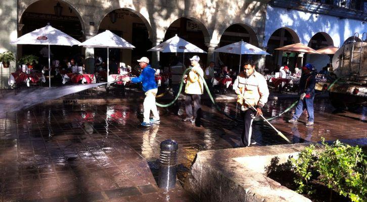 Realiza municipio acciones de limpieza en Zócalo y Alameda de León (14:00 h)