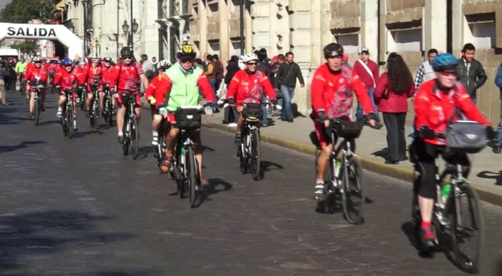 """Inició en Oaxaca la expedición """"México – Centroamérica 2016, en bicicleta"""" (20:55 h)"""