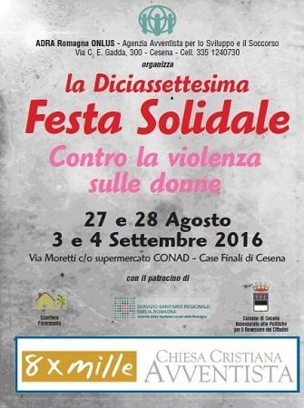 Festa Solidale 2016 A Cesena – Quest'anno ADRA Italia Si Tinge Di Rosa