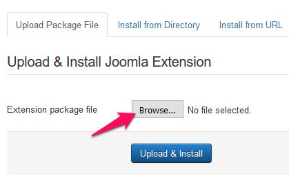 Joomla - extensions manager slika 2