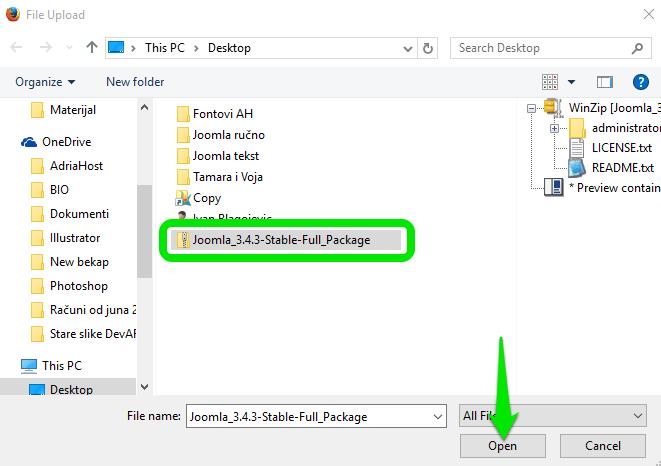 Joomla - file manager 4